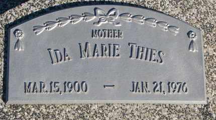 THIES, IDA MARIE - Cuming County, Nebraska | IDA MARIE THIES - Nebraska Gravestone Photos
