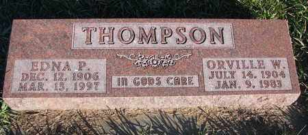 THOMPSON, ORVILLE W. - Cuming County, Nebraska | ORVILLE W. THOMPSON - Nebraska Gravestone Photos