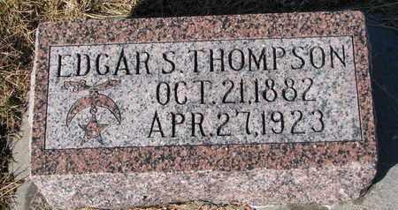 THOMPSON, EDGAR S. - Cuming County, Nebraska   EDGAR S. THOMPSON - Nebraska Gravestone Photos