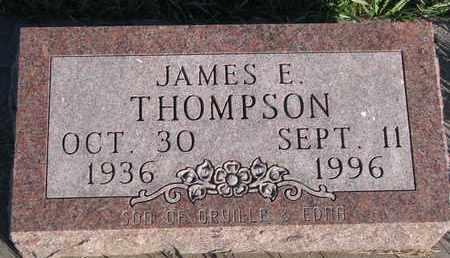 THOMPSON, JAMES E. - Cuming County, Nebraska   JAMES E. THOMPSON - Nebraska Gravestone Photos