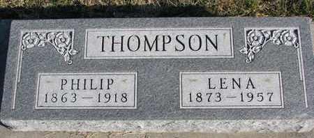 THOMPSON, PHILIP - Cuming County, Nebraska | PHILIP THOMPSON - Nebraska Gravestone Photos