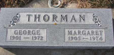 THORMAN, MARGARET - Cuming County, Nebraska | MARGARET THORMAN - Nebraska Gravestone Photos