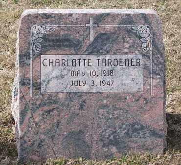 THROENER, CHARLOTTE - Cuming County, Nebraska | CHARLOTTE THROENER - Nebraska Gravestone Photos