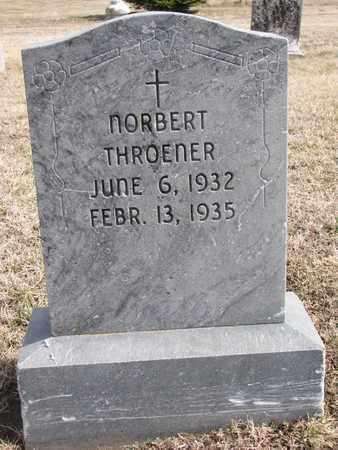 THROENER, NORBERT - Cuming County, Nebraska | NORBERT THROENER - Nebraska Gravestone Photos