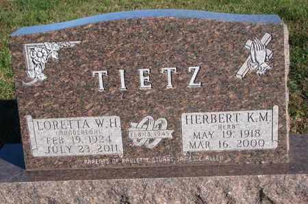 TIETZ, HERBERT K.M. - Cuming County, Nebraska   HERBERT K.M. TIETZ - Nebraska Gravestone Photos