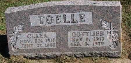 TOELLE, CLARA - Cuming County, Nebraska   CLARA TOELLE - Nebraska Gravestone Photos