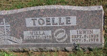 TOELLE, WILLA - Cuming County, Nebraska | WILLA TOELLE - Nebraska Gravestone Photos