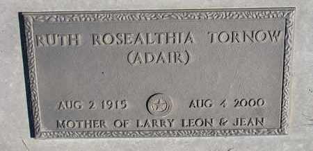 ADAIR TORNOW, RUTH ROSEALTHIA - Cuming County, Nebraska   RUTH ROSEALTHIA ADAIR TORNOW - Nebraska Gravestone Photos