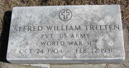 TRITTEN, ALFRED WILLIAM - Cuming County, Nebraska | ALFRED WILLIAM TRITTEN - Nebraska Gravestone Photos