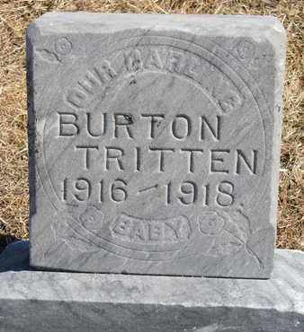 TRITTEN, BURTON - Cuming County, Nebraska   BURTON TRITTEN - Nebraska Gravestone Photos