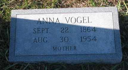 VOGEL, ANNA - Cuming County, Nebraska | ANNA VOGEL - Nebraska Gravestone Photos