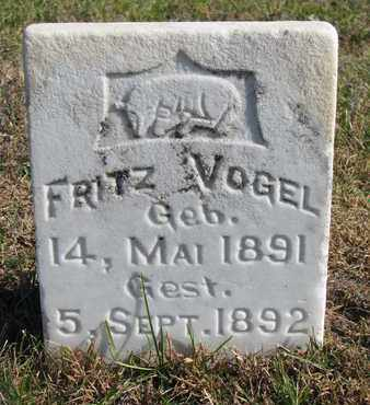 VOGEL, FRITZ - Cuming County, Nebraska | FRITZ VOGEL - Nebraska Gravestone Photos