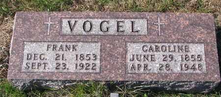 VOGEL, FRANK - Cuming County, Nebraska | FRANK VOGEL - Nebraska Gravestone Photos