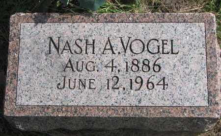 VOGEL, NASH A. - Cuming County, Nebraska | NASH A. VOGEL - Nebraska Gravestone Photos