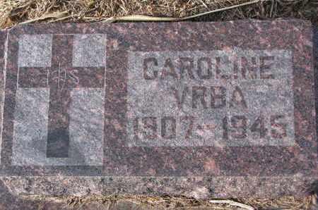 VRBA, CAROLINE - Cuming County, Nebraska | CAROLINE VRBA - Nebraska Gravestone Photos