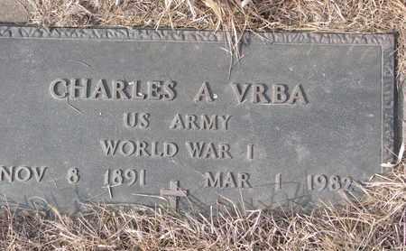 VRBA, CHARLES A. (MILITARY MARKER) - Cuming County, Nebraska | CHARLES A. (MILITARY MARKER) VRBA - Nebraska Gravestone Photos
