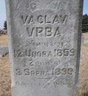 VRBA, VACLAV (CLOSEUP) - Cuming County, Nebraska   VACLAV (CLOSEUP) VRBA - Nebraska Gravestone Photos