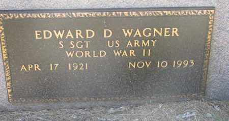 WAGNER, EDWARD D. (MILITARY MARKER) - Cuming County, Nebraska | EDWARD D. (MILITARY MARKER) WAGNER - Nebraska Gravestone Photos