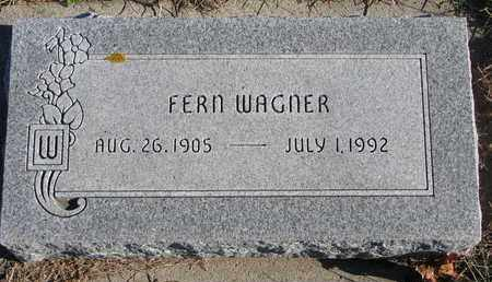 WAGNER, FERN - Cuming County, Nebraska | FERN WAGNER - Nebraska Gravestone Photos
