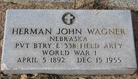 WAGNER, HERMAN JOHN (MILITARY MARKER) - Cuming County, Nebraska   HERMAN JOHN (MILITARY MARKER) WAGNER - Nebraska Gravestone Photos