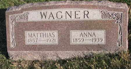 WAGNER, ANNA - Cuming County, Nebraska | ANNA WAGNER - Nebraska Gravestone Photos