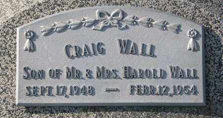 WALL, CRAIG - Cuming County, Nebraska   CRAIG WALL - Nebraska Gravestone Photos