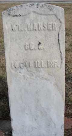 WANSER, WILLIAM - Cuming County, Nebraska   WILLIAM WANSER - Nebraska Gravestone Photos