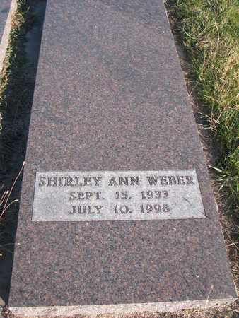 WEBER, SHIRLEY ANN - Cuming County, Nebraska | SHIRLEY ANN WEBER - Nebraska Gravestone Photos