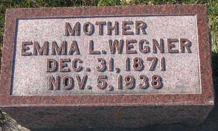 WEGNER, EMMA L. - Cuming County, Nebraska | EMMA L. WEGNER - Nebraska Gravestone Photos
