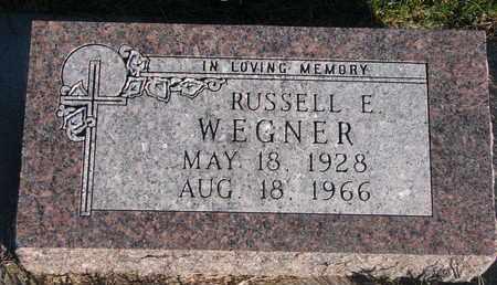 WEGNER, RUSSELL E. - Cuming County, Nebraska | RUSSELL E. WEGNER - Nebraska Gravestone Photos