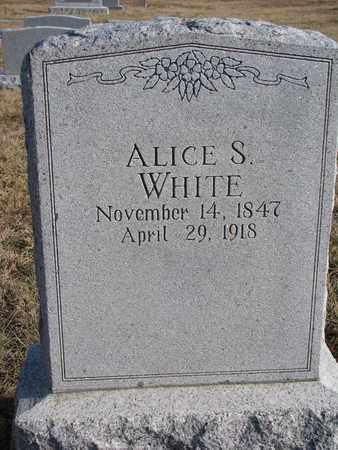 WHITE, ALICE S. - Cuming County, Nebraska | ALICE S. WHITE - Nebraska Gravestone Photos