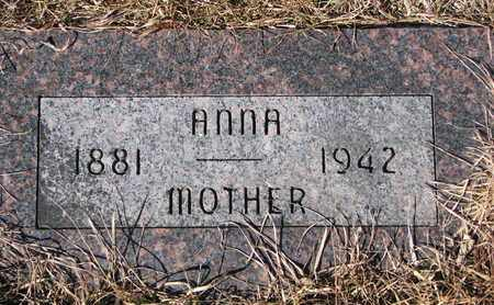 WHITE, ANNA - Cuming County, Nebraska | ANNA WHITE - Nebraska Gravestone Photos