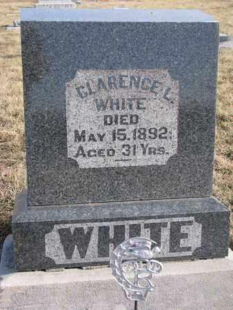 WHITE, CLARENCE L. - Cuming County, Nebraska   CLARENCE L. WHITE - Nebraska Gravestone Photos