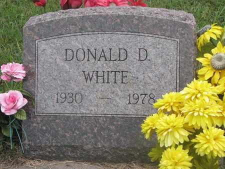 WHITE, DONALD D. - Cuming County, Nebraska | DONALD D. WHITE - Nebraska Gravestone Photos