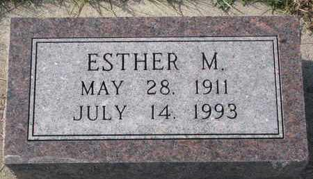 WHITE, ESTHER M. - Cuming County, Nebraska | ESTHER M. WHITE - Nebraska Gravestone Photos