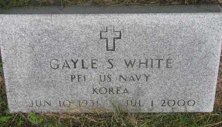 WHITE, GAYLE S. - Cuming County, Nebraska   GAYLE S. WHITE - Nebraska Gravestone Photos