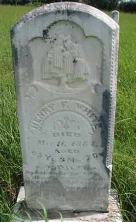 WHITE, HENRY F. - Cuming County, Nebraska | HENRY F. WHITE - Nebraska Gravestone Photos