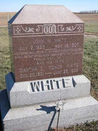 WHITE, JOHN W. - Cuming County, Nebraska | JOHN W. WHITE - Nebraska Gravestone Photos