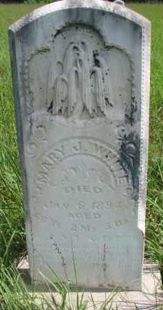 WHITE, MARY J. - Cuming County, Nebraska | MARY J. WHITE - Nebraska Gravestone Photos