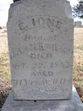 WILSON, E. IONE (CLOSEUP) - Cuming County, Nebraska | E. IONE (CLOSEUP) WILSON - Nebraska Gravestone Photos