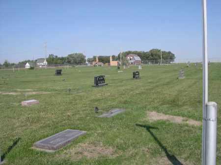 *WISNER CEMETERY, *VIEW OF - Cuming County, Nebraska | *VIEW OF *WISNER CEMETERY - Nebraska Gravestone Photos