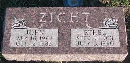 ZICHT, ETHEL - Cuming County, Nebraska | ETHEL ZICHT - Nebraska Gravestone Photos