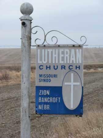 *ZION LUTHERAN, SIGN - Cuming County, Nebraska | SIGN *ZION LUTHERAN - Nebraska Gravestone Photos