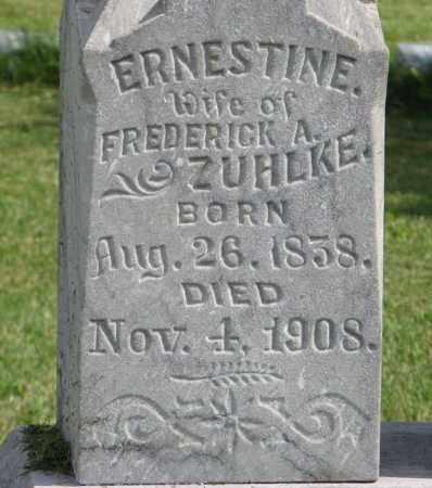 ZUHLKE, ERNESTINE (CLOSEUP) - Cuming County, Nebraska | ERNESTINE (CLOSEUP) ZUHLKE - Nebraska Gravestone Photos