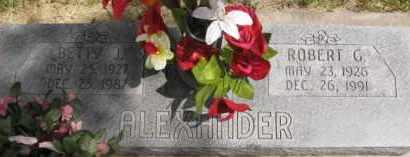ALEXANDER, BETTY JOYCE - Custer County, Nebraska   BETTY JOYCE ALEXANDER - Nebraska Gravestone Photos