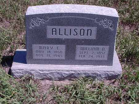 ALLISON, WILLIAM A. - Custer County, Nebraska | WILLIAM A. ALLISON - Nebraska Gravestone Photos