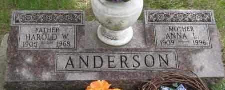 ANDERSON, ANNA L - Custer County, Nebraska | ANNA L ANDERSON - Nebraska Gravestone Photos