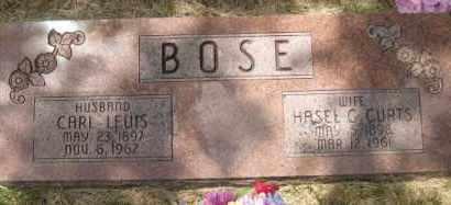CURTS BOSE, HASEL G - Custer County, Nebraska | HASEL G CURTS BOSE - Nebraska Gravestone Photos