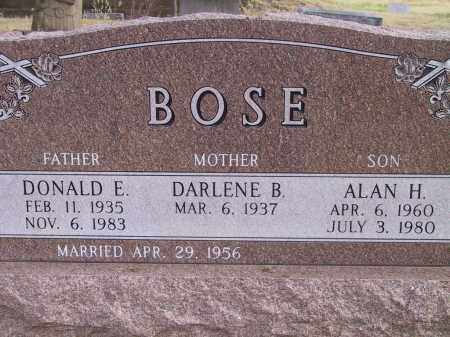 BOSE, ALAN H. - Custer County, Nebraska | ALAN H. BOSE - Nebraska Gravestone Photos