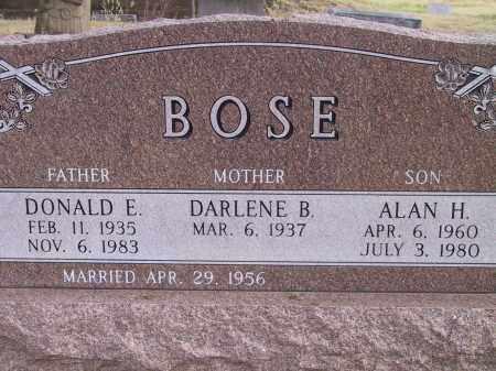 BOSE, DARLENE B. - Custer County, Nebraska | DARLENE B. BOSE - Nebraska Gravestone Photos